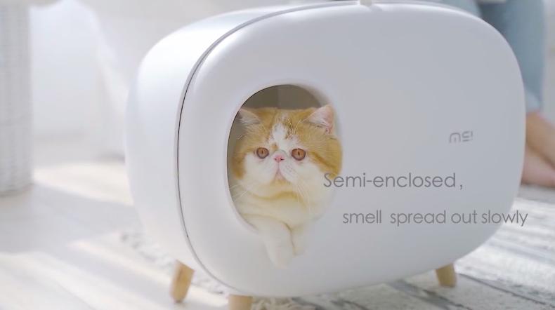 猫トイレの臭いの拡散を軽減。